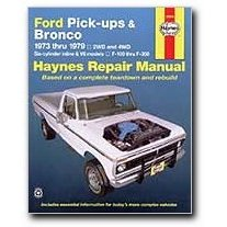 Show details of Haynes Ford Pick-ups and Bronco (73 - 79) Manual.