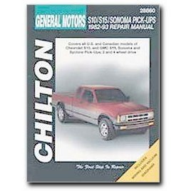 Show details of Chilton Chevrolet S10/S15/Sonoma Pick-Ups (82 - 93) Manual.