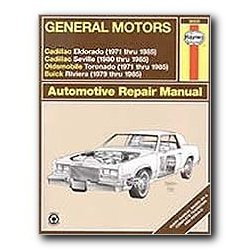 Show details of Haynes General Motors: Cadillac Eldorado Seville Oldsmobile Toronado and Buick Riviera (71 - 85) Repair Manual.