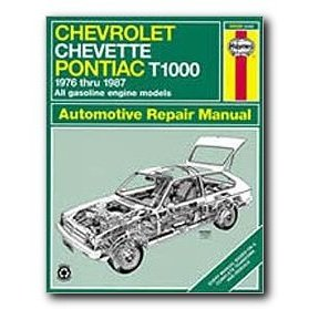 Show details of Haynes Chevrolet Chevette and Pontiac T1000 (76 - 87) Repair Manual.