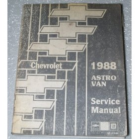 Show details of 1988 Chevrolet Astro Van Service Manual.