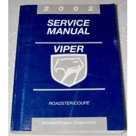 Show details of 2002 Dodge Viper Roadster/Coupe Service Manual Book.