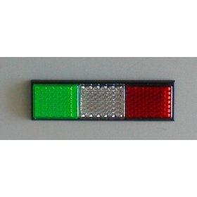 Show details of Italian Flag Reflector, Auto, Motorcycle, RV, Truck, Boat - Free S/H.