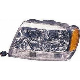 Show details of 99-01 JEEP GRAND CHEROKEE HEADLIGHT LH (DRIVER SIDE) SUV, Limited (1999 99 2000 00 2001 01) 20-5576-91 55155553AE.