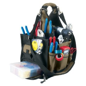 Show details of Custom LeatherCraft 1528 23 Pocket Large Electrical and Maintenance Tool Carrier.