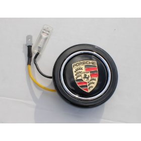 Show details of PORSCHE Crest Steering Wheel Horn Button Gold.