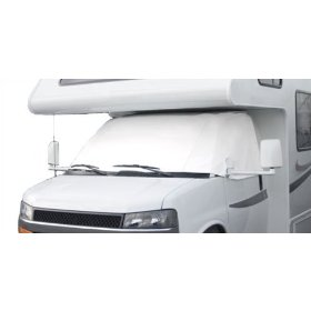 Show details of Classic Accessories 80-035-212307-00 RV Windshield Cover White - Dodge Sprinter.