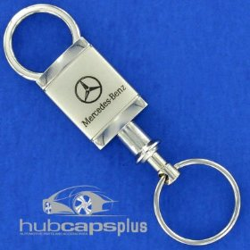 Show details of New Mercedes Benz Stylish Chrome Valet Key Chain Ring.