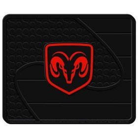 "Show details of Dodge Factory Logo Molded 14"" x 17"" Utility Mat."