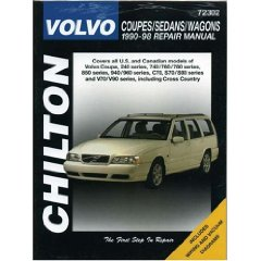 Show details of Volvo Coupes, Sedans, and Wagons, 1990-98 (Chilton's Total Car Care Repair Manual) (Paperback).