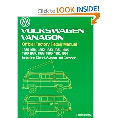 Show details of Volkswagen Vanagon Official Factory Repair Manual 1980-1991 Including Diesel Syncro and Camper [ILLUSTRATED]  (Paperback).