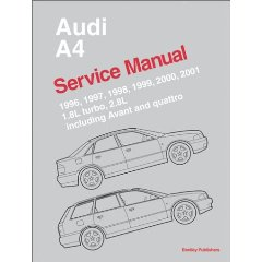 Show details of Audi A4 Service Manual: 1996-2001 (Paperback).