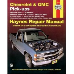 Show details of Chevrolet and GMC Pick-ups, 1988-98; C/K Classic, 1999-2000 (Haynes Manuals) (Paperback).