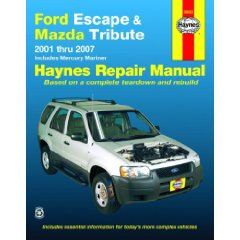 Show details of Ford Escape & Mazda Tribute, '01-'07 (Automotive Repair Manual) (Paperback).